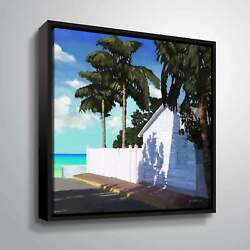 Artwall Conch Republic Ii Floater Framed Canvas Small