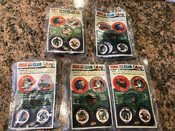 1993 Zbots Complete Set Of 5 Burger King Kids Club Meal Toy Galoob Bugeye