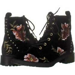 Material Girl Womens Modelia Closed Toe Ankle Fashion, Black Floral, Size 9.5