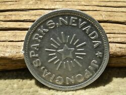 Ca 1908 Sparks Nevada Nv Washoe Co Jerry Poncia Saloon Scarce R8 50c Token