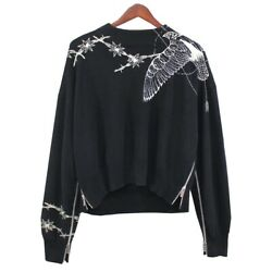 Secondhand Sacai Dr.woo 19ss Embroidered Side Zip Knit Collection Items Black