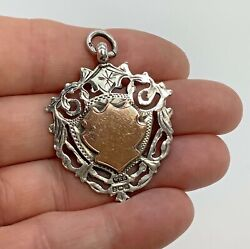 Large William Hair Haseler Solid Silver And Rose Gold Fob Double Sided 12g 4.5cm