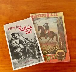 Buffalo Bill Wild West Lot 1885 Program Booklet Reproduction And 1954 Letters Book