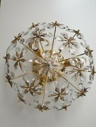 Italy Dome Shaped Floral Prism Ceiling Lamp