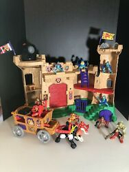 Vintage 90and039s Fisher Price Great Adventures Magic Lion Castle W/ Sounds And Knights