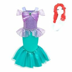 Dress And Wig Children Christmas Carnival Costume Accessories Fancy Cosplay