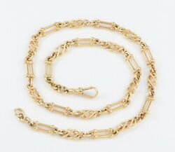 Vintage Solid 9ct Gold Ornate Fancy Link Neck Chain / Necklace 19and039and039