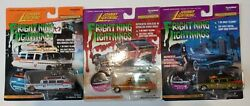 Johnny Lightning Frightning Lightnings Lot. Of 3 Ghost Busters Ecto 1a.
