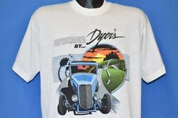 Vtg 80s Supercharged Dyers Blowers Summit Illinois Hot Rod Classic Car T-shirt L