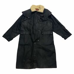 The Australian Outback Collection Wool Lined Wax Coat | Vintage Outdoors Black