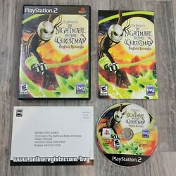 Nightmare Before Christmas Oogieand039s Revenge Sony Playstation 2 Ps2 Complete Cib
