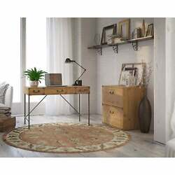 Ironworks Desk With File Cabinet From Kathy Ireland Home By Brown Medium