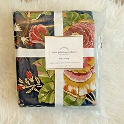 Pottery Barn Laina Palampore King / Cali King Duvet New In Package Blue Floral