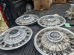 Ford Thunderbird Simulated Wire Spoke Hubcaps Wheel Covers Center Caps Hub Caps