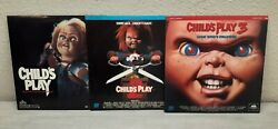 Child's Play Laserdisc Lot 1 2 And 3 Tested