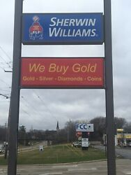 We Buy Gold Outdoor Led Lit Sign Two Sided Sign