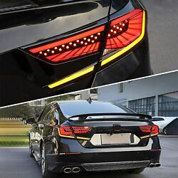 Led Smoked Tail Lights For Honda Accord 2018-2020 W/start-up Animation Rear Lamp