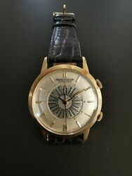 Jaeger-lecoultre Memovox Worldtime Automatic 2 Tone Watch K815 Ref. 853 855 37mm