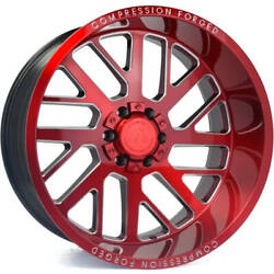 4-22x10 Red Wheel Axe Offroad Ax2.2 8x6.5 -19