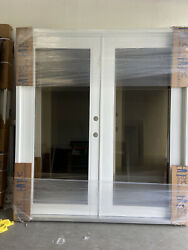 Series Fd 2100 Outswing French Impact Door 72x80. White Aluminum Pre Hung Frames