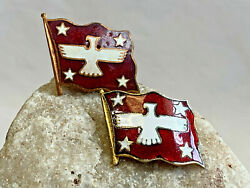 1950's And 60's American President Steamship Hat Badge Flag Jewelry Pin Brooch