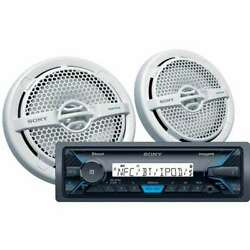 Sony Marine Digital Media Receiver With Bluetooth And Two Speakers For Parts