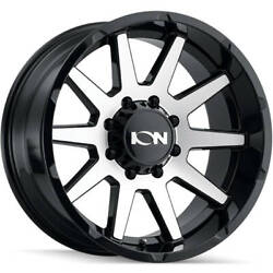 4-20x10 Machined Black Wheel Alloy Ion Style 143 8x170 -19
