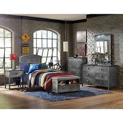 Hillsdale Urban Quarters Five Pc Panel Full Bed Set With Black Full