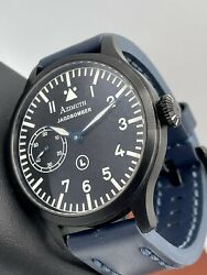 Azimuth Militare-1 Jagdbomber White Knight Black Pvd Watch 47mm Blued Hands