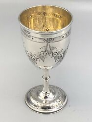 Vintage Ornate Sterling Silver Goblet With English Hallmarks Excellent Condition