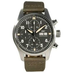 Pre-owned Pilotand039s Chronograph Spitfire Stainless Steel 41mm Iw387901