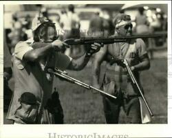1984 Press Photo Bridgeport Rod And Gun Club Officials, Trapshooting Competition