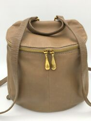 Hobo Women#x27;s River Leather Medium Backpack Bag Soft Brown $298 Retail $135.99
