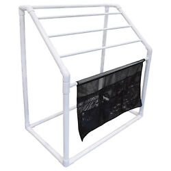 Wow Watersports Freestanding Collapsible 5 Rail Towel Rack W/ Pocket Used