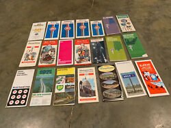 Usa Vintage Lot 21 Road Highway Maps Gulf Esso Arco Mobil States 60's-70's
