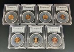 1993-1999 Lincoln Cent Date Run Pcgs Pr69rd Dcam 7 Coins Slabbed Proof Pf