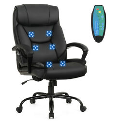 Big And Tall 500lbs Massage Office Chair Executive Pu Leather Computer Desk Chair