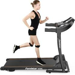 Famistar Electric Folding Treadmill With 12 Programs And 3 Modes, Easy Assembly