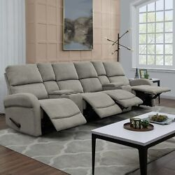 Copper Grove Herentals Grey Chenille 4-seat Recliner Sofa Grey Transitional, Mod
