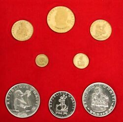 1973 Gold And Silver Haiti Gourdes 9 Coin Proof Box Set 1250 Minted