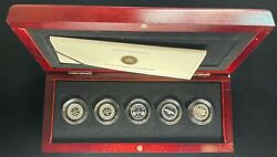 2012 Canadian Proof Fine Silver 5 Cent Set With Box And Coa