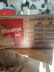 Vintage Winston Cigarette Gas Station/grocery Price Advertising Sign