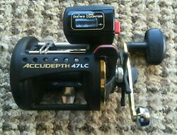 Daiwa Accudepth 47lc Level Wind Line Counter Reel Excellent To Mint