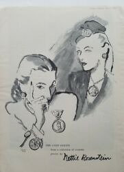 1945 Nancy Rosenstein Coin Series Collection Of Costume Jewelry Vintage Ad