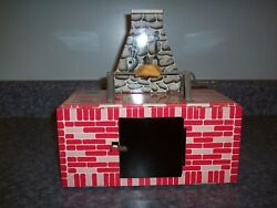 Wolverine Supply And Mfg Co Brick Hearth Oven Barbecue Pit Vintage Tin Toy Nice