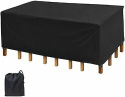 Icover Patio Table Furniture Cover For Outdoor Dining Table Set,easy On/off