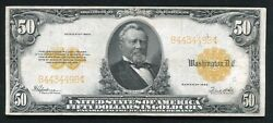 Fr. 1200 1922 50 Fifty Dollars Gold Certificate Currency Note Very Fine+