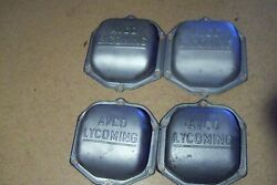Four Lycoming Rocker Box Covers With Large Avco Lycoming Lettering.