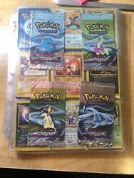 Pokemon Neo Genisis 1st Edition Complete Non-holo Set And4 1st Empty Artwork Packs