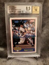 🔥rare🔥mickey Mantle Signed Mint 10 Graded Auto 8.5 Bgs 1992 Score Insert Card